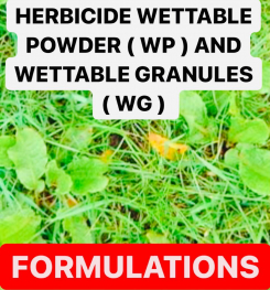 HERBICIDE WETTABLE POWDER ( WP ) AND WETTABLE GRANULES ( WG ) PESTICIDE FORMULATIONS AND PRODUCTION PROCESS