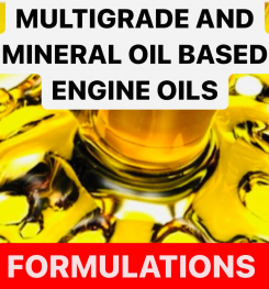 MULTIGRADE AND MINERAL OIL BASED ENGINE OILS FORMULATIONS AND PRODUCTION PROCESS