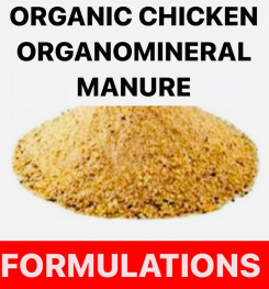 ORGANIC CHICKEN ORGANOMINERAL MANURE FORMULATIONS AND PRODUCTION PROCESS
