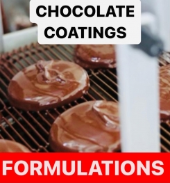 CHOCOLATE COATINGS FORMULATIONS AND PRODUCTION PROCESS