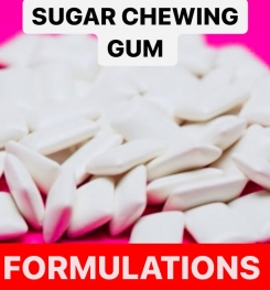 SUGAR CHEWING GUM FORMULATIONS AND PRODUCTION PROCESS