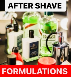 AFTER SHAVE PRODUCTS FORMULATIONS AND PRODUCTION PROCESS