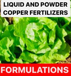 LIQUID AND POWDER COPPER FERTILIZERS FORMULATIONS AND PRODUCTION PROCESS