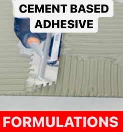 CEMENT BASED ADHESIVE FORMULATIONS AND PRODUCTION PROCESS