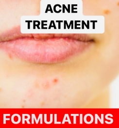 ACNE TREATMENT PRODUCTS FORMULATIONS AND PRODUCTION PROCESS