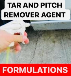TAR AND PITCH REMOVER AGENT FORMULATIONS AND PRODUCTION PROCESS