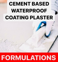 CEMENT BASED WATERPROOF COATING PLASTER FORMULATIONS AND PRODUCTION PROCESS